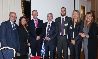 Ο Βρετανός Πρέσβης υποδέχεται το IST College και το London South Bank University