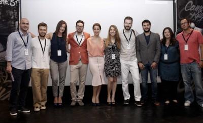 Η ομάδα του  World Economic Forum Global Shapers Athens Hub επί σκηνής