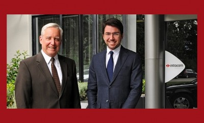 Ο Πρέσβης των ΗΠΑ κ. David Pearce με τον κ. Κωνσταντίνο Κόκκαλη, CEO της Intracom Holdings