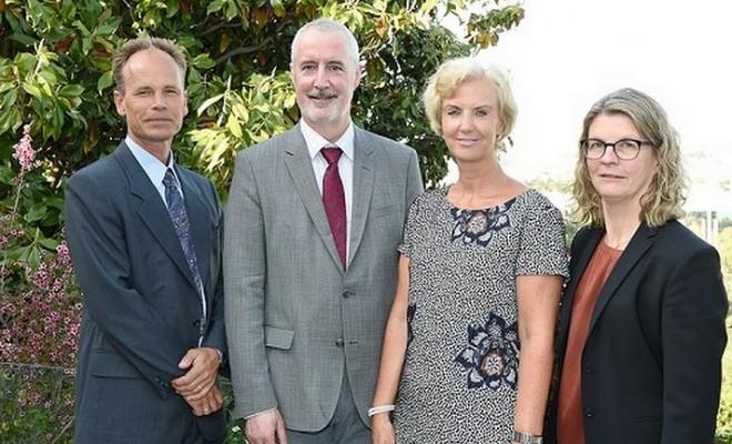 Hakan Berg, Kevin Noone, Ambassador Charlotte Wrangberg, Karin Holmgren