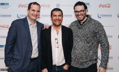 από δεξιά-Ο Συνιδρυτής του ReGeneration Παναγιώτης Μαδαμόπουλος-Μοράρης μαζί με τον Νίκο Κουμέττη, και τον Μιχάλη Πρίντζο.