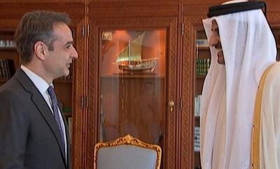 mitsotakis-Sheikh Tamim bin Hamad Al Thani