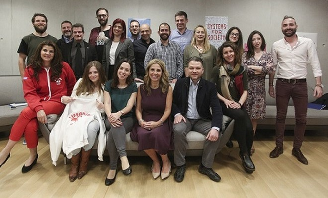 Nicola Mendelsohn with Goups Admins. Facebook Community day in Athens mw