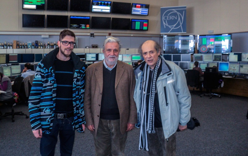 Dr. BARONE, SON AND INVENTOR IN CERN CENTRAL CONTROL ROOM