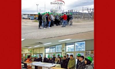 Σπουδαστές ΤΕΙ στις εγκαταστάσεις της Energean