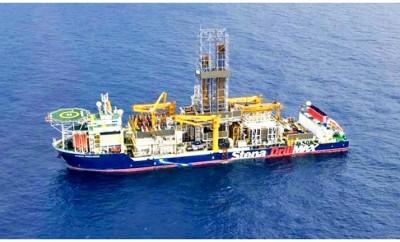 Stena DrillMAX at drillimg location, offshore Israel