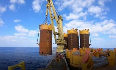Από την εγκατάσταση των αγκυρών αναρρόφησης του FPSO Energean Power στο Ισραήλ - Suction anchors installation, offshore Israel