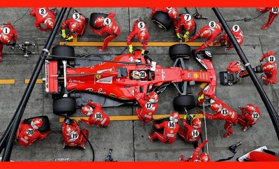 F1 pit stop