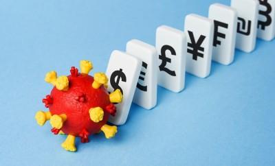 Global economic crisis. Market crash and financial loss due to Coronavirus (COVID-19)